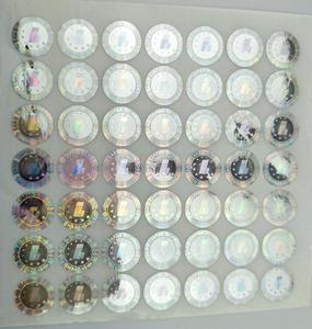 Hologram security overlay,label,stickers,foils,seals for PVC ID Cards