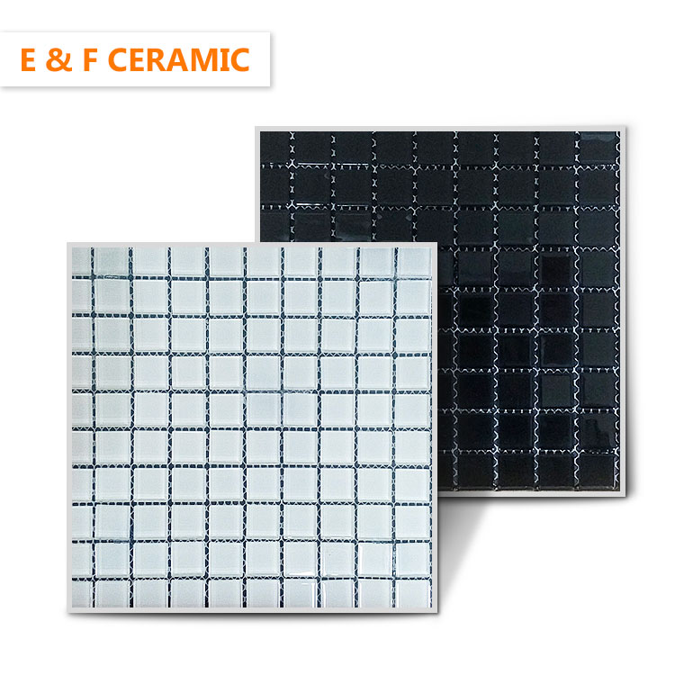 square tile decor mosaic for kitchens and bathroom backsplash foshan blue square glass mosaic tile for wall