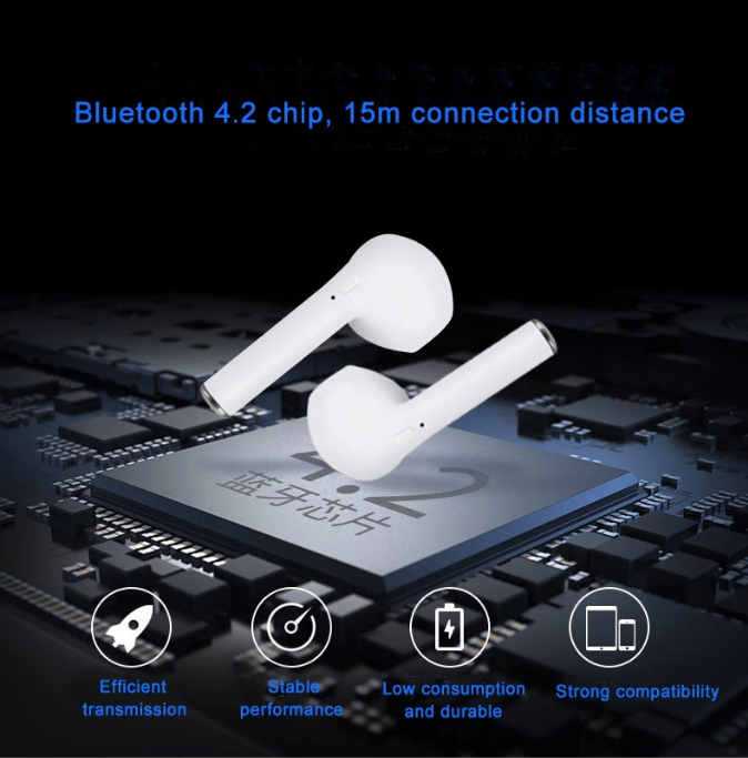 I9s TWS V4.2+EDR  Earbuds wireless Headset Magnetic Earphone With Charging bin
