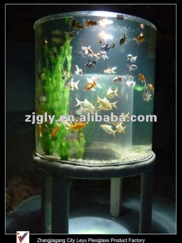 Cylinder Aquarium Of Acrylic