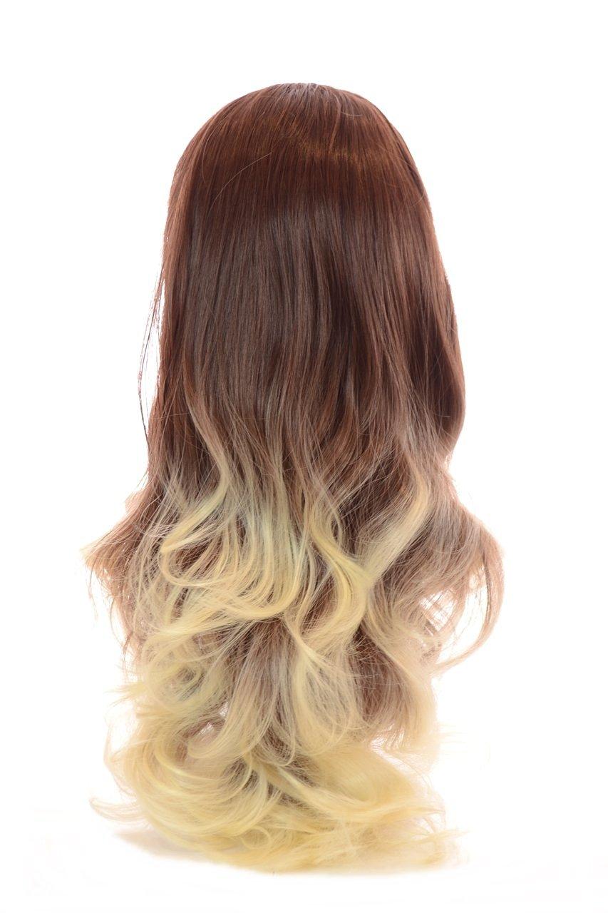 Buy Auburnblonde Tihaira Wave Half Wig Auburn Clip In Wavy Half