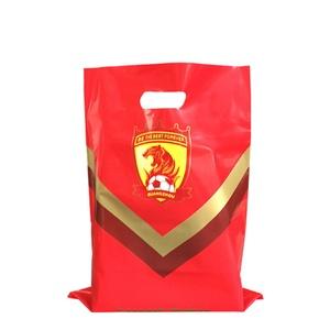Custom printed die cut handle hdpe ldpe biodegradable plastic shopping  glossy merchandise bag