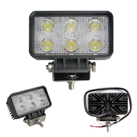 Hot sale vehicle LED work light 6 LEDs 18W off road LED work light for tractor jeep truck forklift SUV