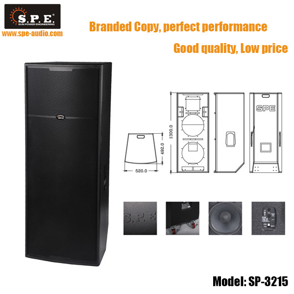 Sp-725 Spe Audio Professional Speaker 2*15 Inch J Bl Professional ...