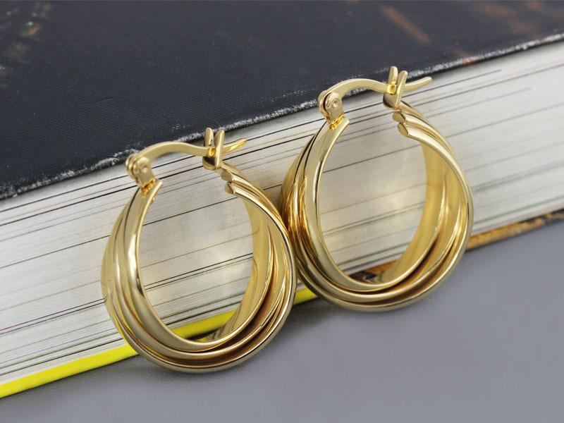 Saudi Gold Earring Jewlery Women's Gold Plated Hoop ...