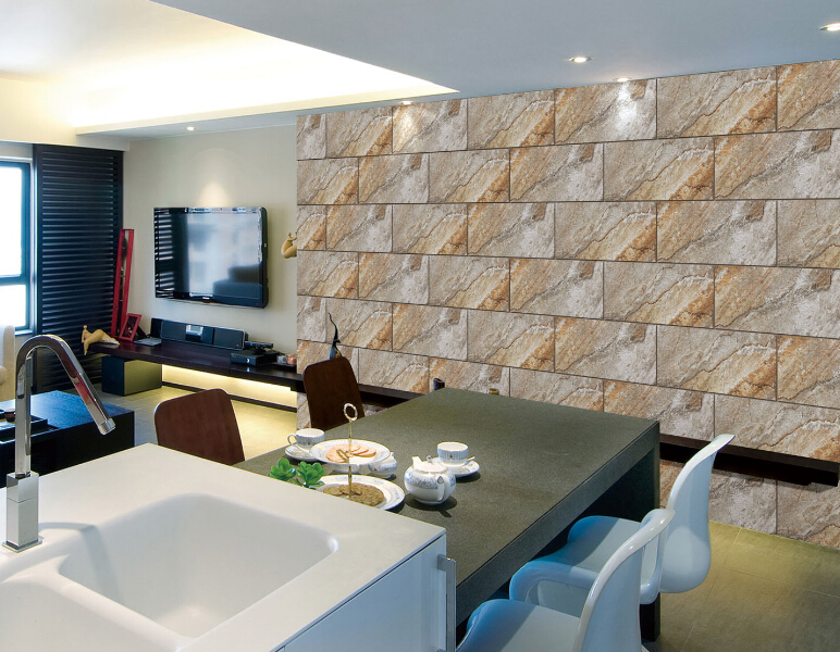 Comedor pared acristalada baldosas de cer mica azulejo de for Azulejos para paredes