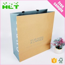 Custom decoration handmade stand up kraft brown paper bag with window