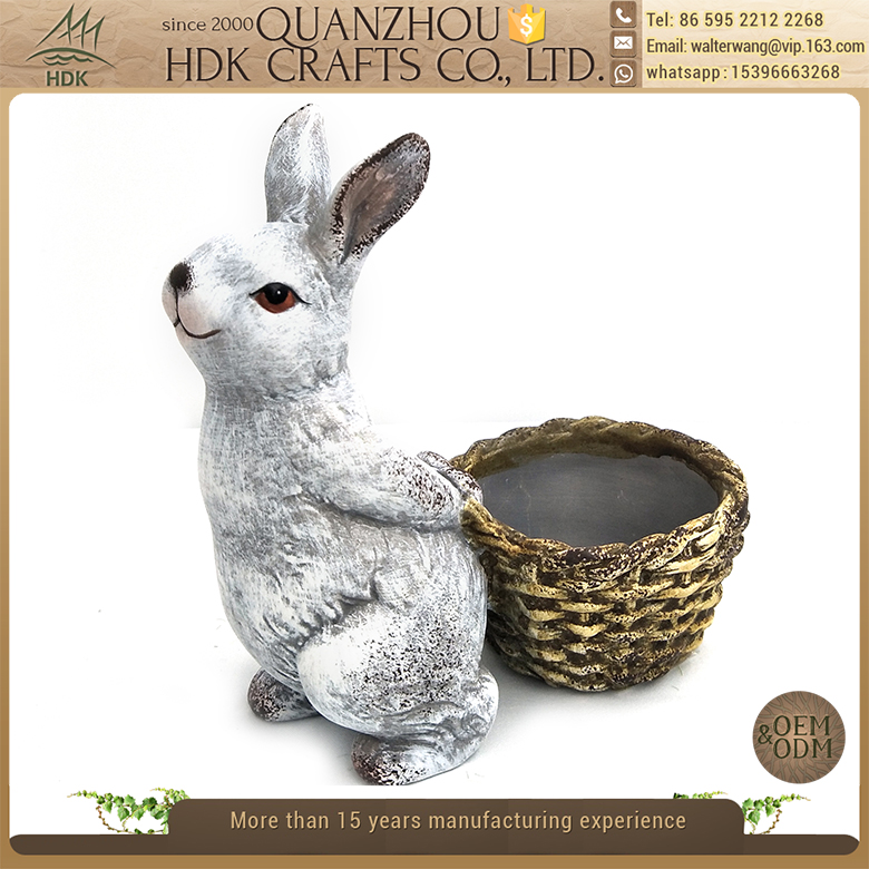 ODM OEM service sophisticated technology ceramic rabbit shape mini pot for easter day