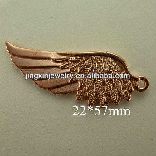 Copper Coated Plastic Angel Wings Shape Charm Pendants More Other Fashion Types Support