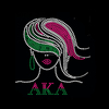 AKA AFRO GIRL RHINESTONE HOT FIX HEAT TRANSFER DESIGNS