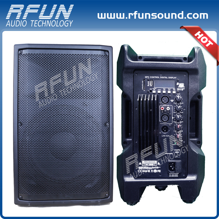 Popular for the market 100 W RMS 2 way active speakers active pa inch speaker