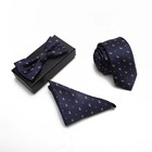 Business Wedding Men Ties Neckties Bowtie Hanky Ties Gift Set