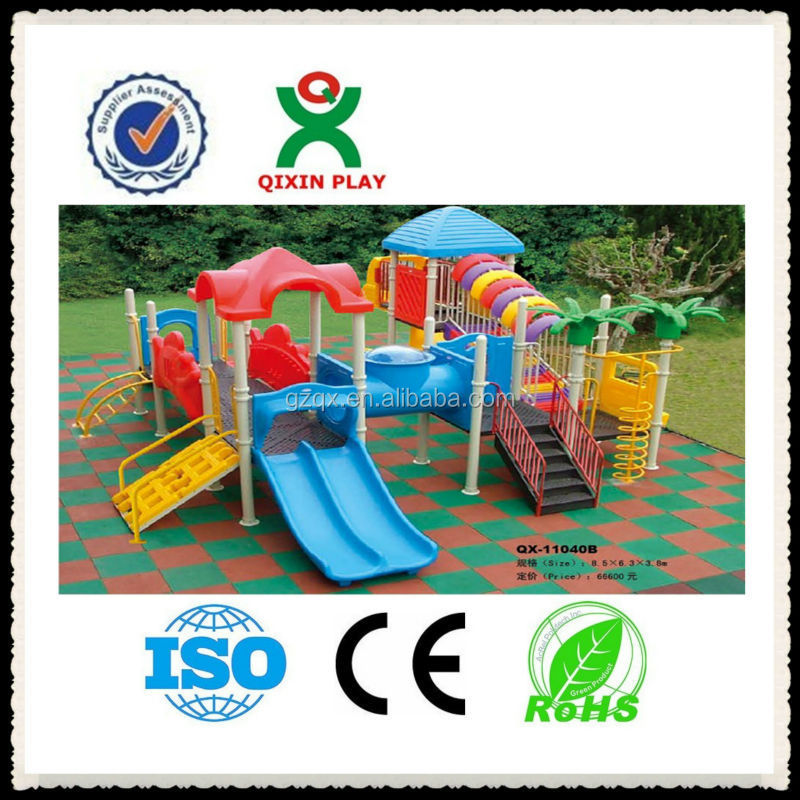 Safe and solid kids outdoor play areas/play equipment for children/nursery school play ground/QX-11040B