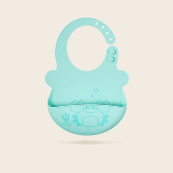 Super Soft Waterproof silicone baby bib with Customizable logo