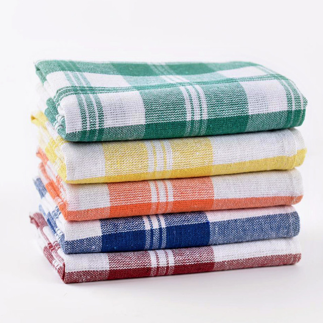 Plain White Tea Towel Bulk Made In China Factory Custom Cotton Kitchen