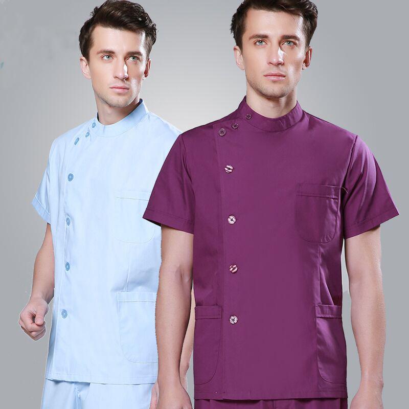 Mens spa uniforms reviews online shopping mens spa for Spa uniform alibaba