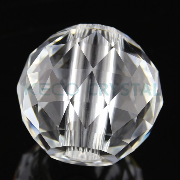 trendy mm center trou verre clair boule de cristal le verre boule de cristal peut tre with. Black Bedroom Furniture Sets. Home Design Ideas
