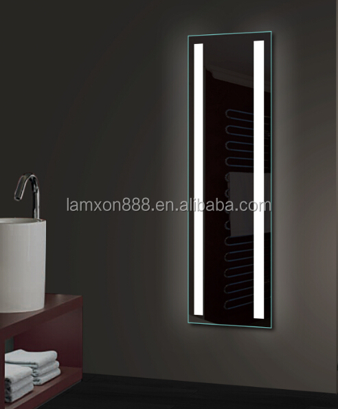 Hotel project bathroom mirror with LED light full length for dressing room