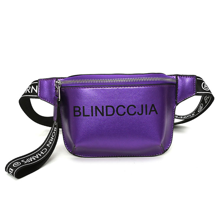 Latest design 2019 fashion fanny pack Accept Customized Logo ladies leather sport waist bag for women