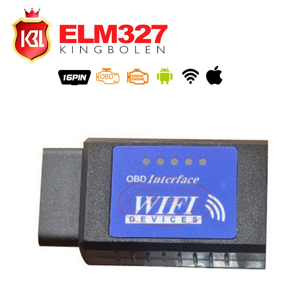 Последней версии ELM327 OBDII WIFI диагностический беспроводной сканер для IPhone сенсорный ELM 327 WIFI OBD 2 сканер
