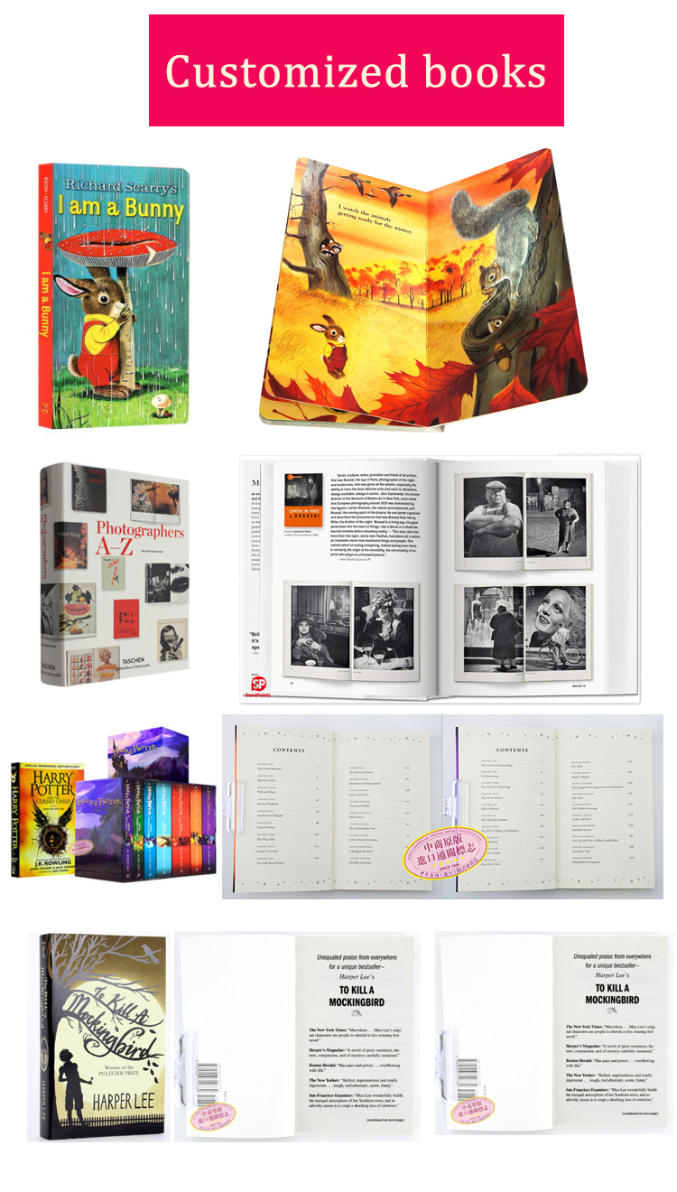 China custom cheap fiction color books publishing printing hardcover book