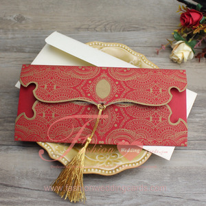 Wholesale Laser Muslim Indian Style Wedding Invitation Card