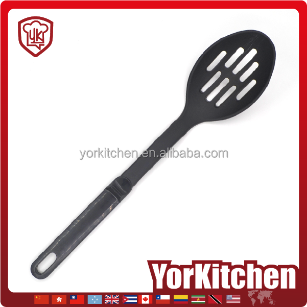 Factory Price Kitchen utensils Nylon Vegetable Cooking Slotted Spoon