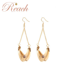 New Wholesale Vintage Fashionable Antiqued Silver Plated Metal Earrings