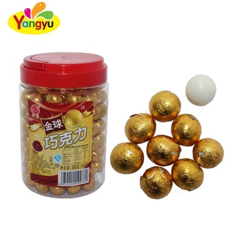 Good Taste Golden Chocolate Ball Crispy White Chocolate Coated Chocolate Bean