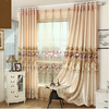 TOP ONE 2016 100% polyester luxury european style embroidery window curtains/popular curtain fabric