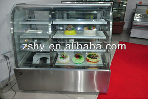 pastry display cabinet (double temperature and chamber)