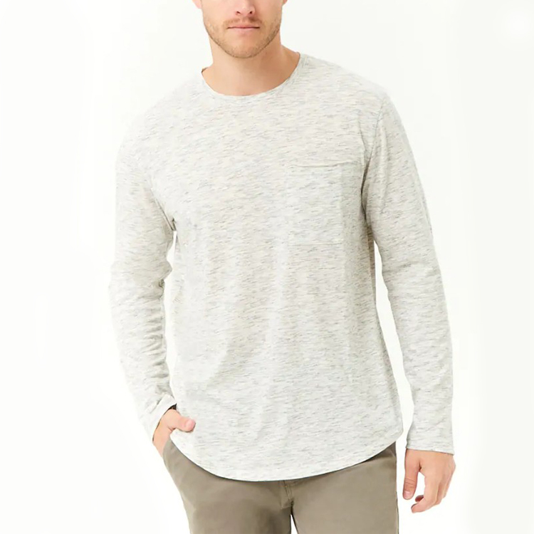 Massen kaufen aus China Multi Color Langarm-T-Shirt Männer 100% Baumwolle plain T-Shirt OEM Sport T-Shirt Fabrik Stil