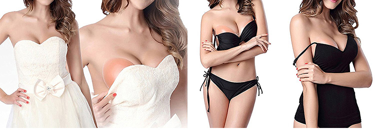 Hot sale girls underwear backless and strapless silicone bra