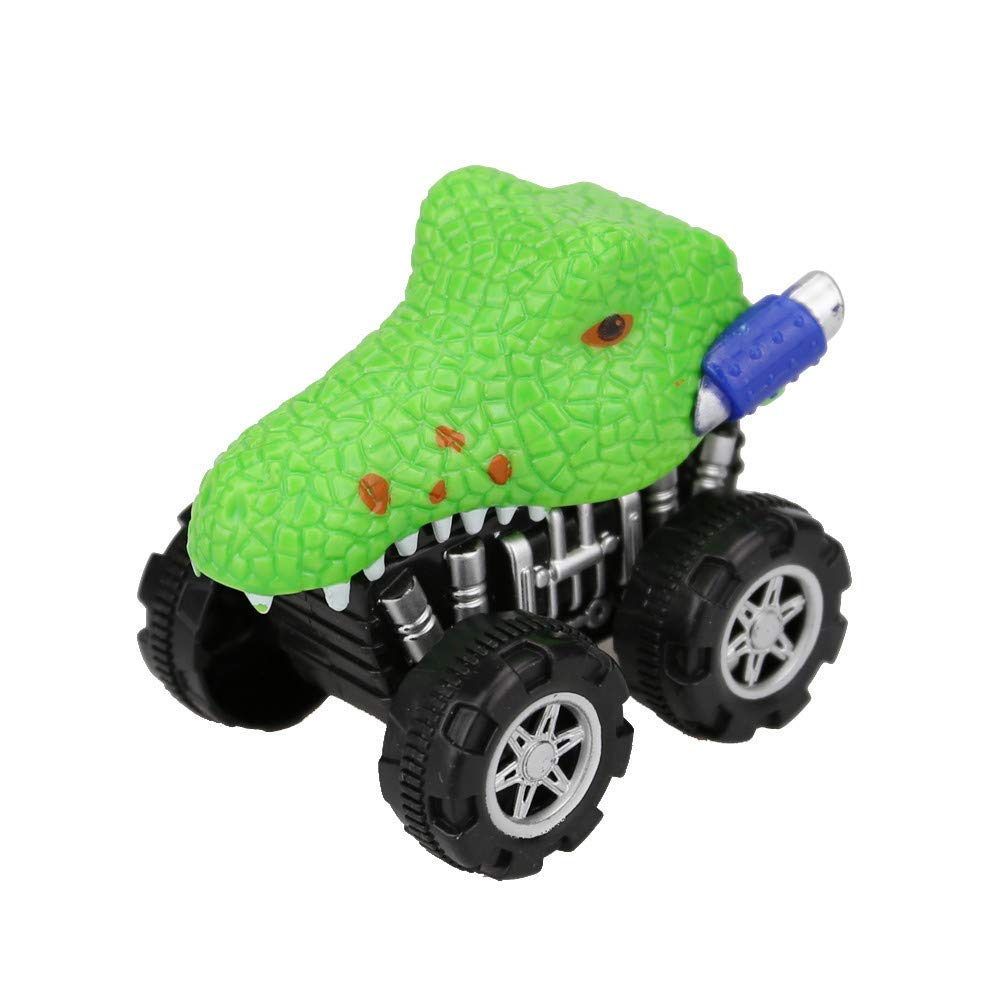 callm Pull Back Toy Cars, Dinosaur Friction Powered Car Pull Back Vehicle Mini Animal Car Toy for Gifts Kid (Dinosaur B)