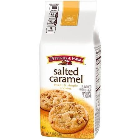 Pepperidge Farm Salted Caramel Sweet & Simple Cookies, 5.5 oz (Pack of 4)