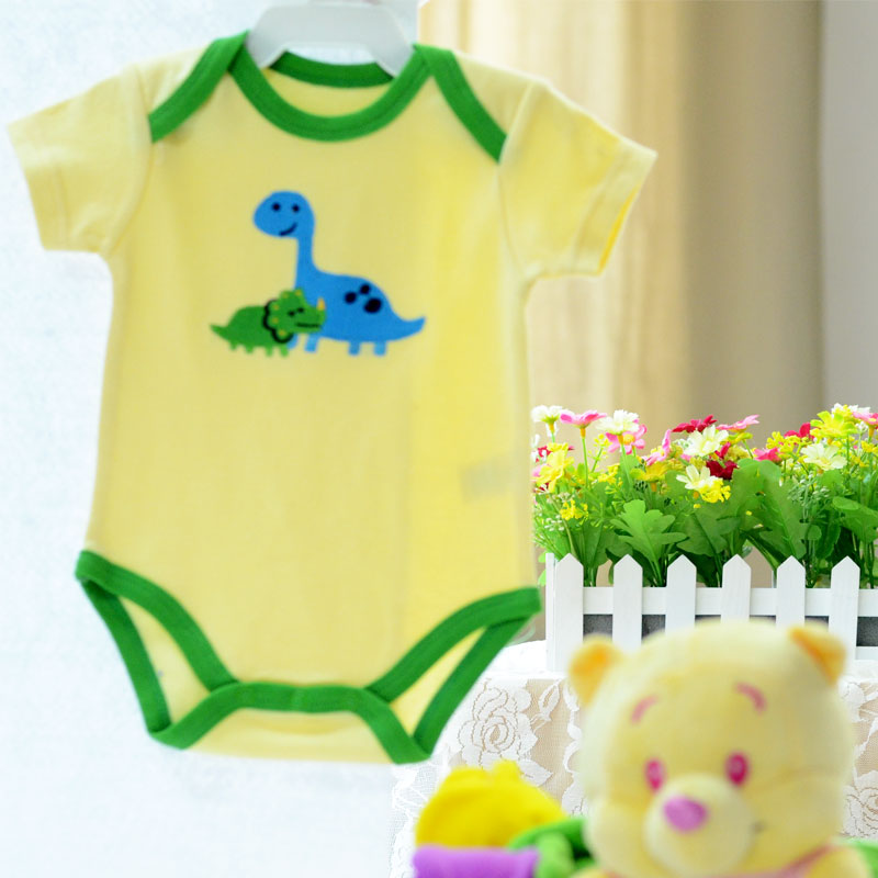 100% cotton toddler body suits with cartoon embroidey