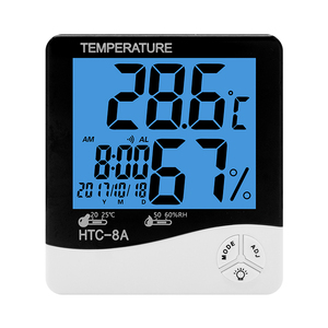 household digital electronic clock hygrothermograph HTC-8A high humidity temperature meter