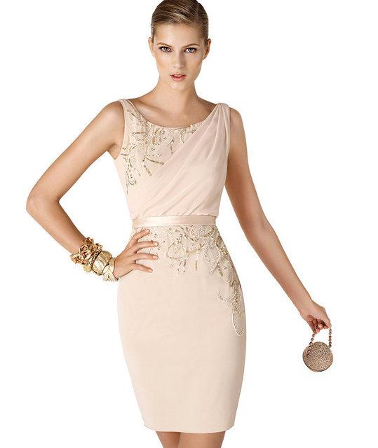ede7db20346 Champagne-y-negro-Backless-atractivo-barato-gasa-con-cuentas-de-encaje-corto -vestidos-fiesta-2015