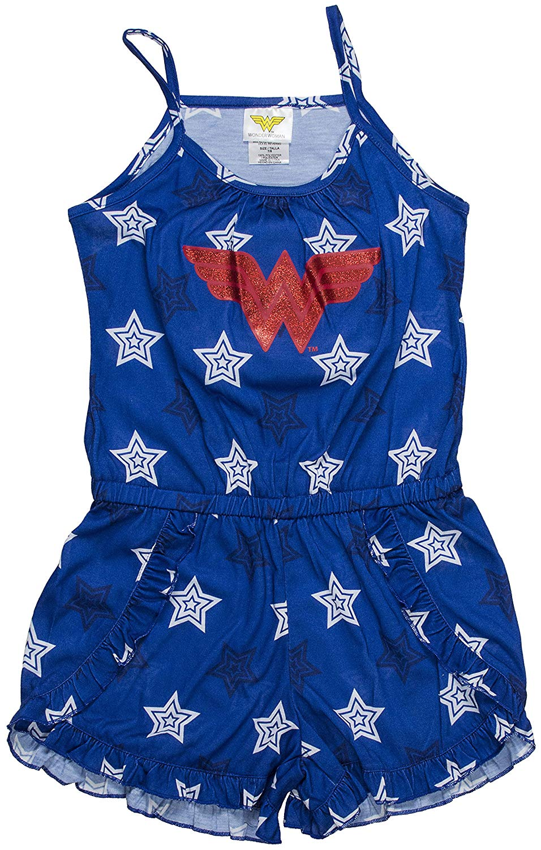 916565a38a772 Get Quotations · DC Comics Big Girls' Wonder Woman Logo Romper Pajama