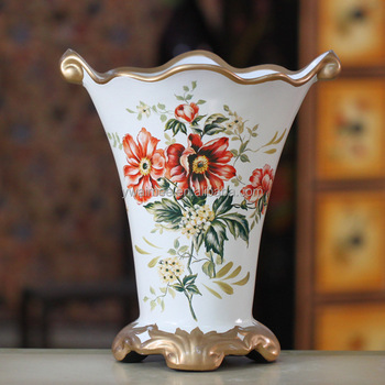 Yiwu Aimee Supplies Antique White Ceramic Vaseslarge Chinese Ceramic
