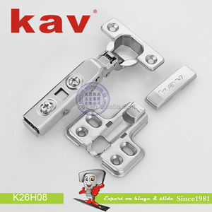 K26H08 kav factory 26mm cup continuous hinges hydraulic cabinet kitchen hidden door curve hinge