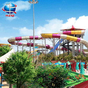 Flat fibreglass water slides factory in china, fixed water slide