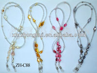 colorful beaded eyeglass chains