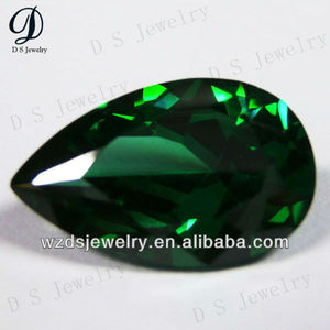 charming desing pear shape green cz