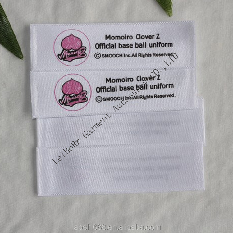 Factory custom cotton wash care label / woven tape printing label / 100% cotton printed label