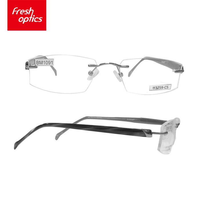 ec8c103a8 تصميم الرجال بدون إطار معدني البصرية إطارات للرجال-إطارات النظارات ...
