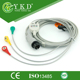 air shields Compatible 6pin ECG Trunk Cable IEC, Snap, 3LEADS,hot selling