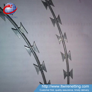 Anping factory high quality razor ribbon/barbed wire/concertina wire