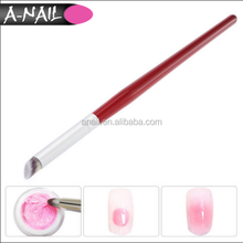 Wooden Handle UV Gel Pilosh Nails Painting French Tips Manicure Nail Pen 16 cmCM Gradient Dizzy Dye Oblique Nail Art Brush