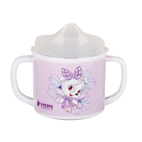 FDA CA 65 LFGB Food Standard BPA Free Baby Training Cup 100% Melamine Tow handle Baby Sippy Cup